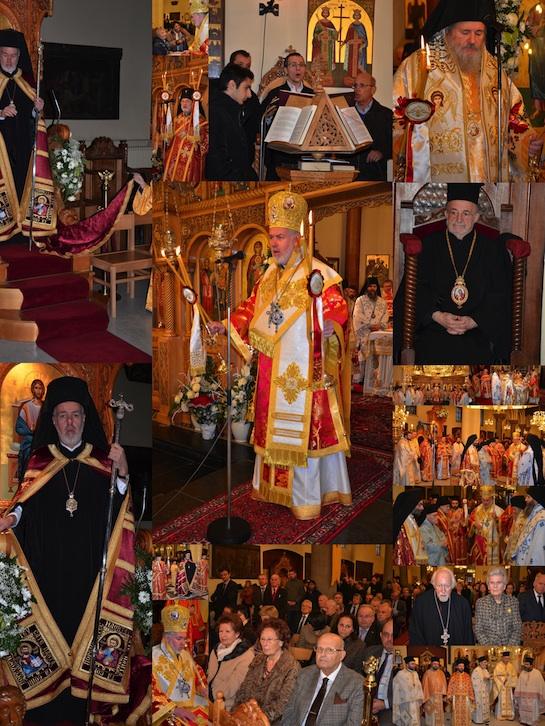 Eerste Pontificale Liturgie met de nieuwe Metropoliet Athenagoras van België kl