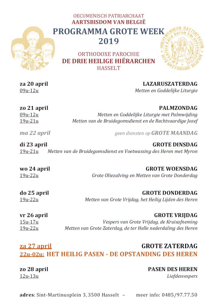 Grote Week Hasselt - 2019